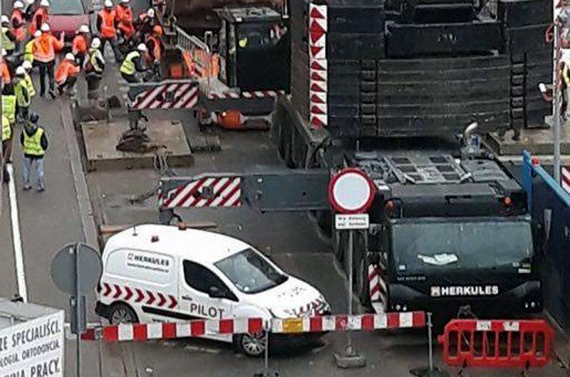 Warszawa: na budowie najwyższego wieżowca w Unii znaleziono coś ciekawego