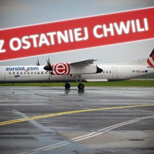 Awaryjne lądowanie samolotu na Lotnisku Chopina. Na pokładzie 53 osoby