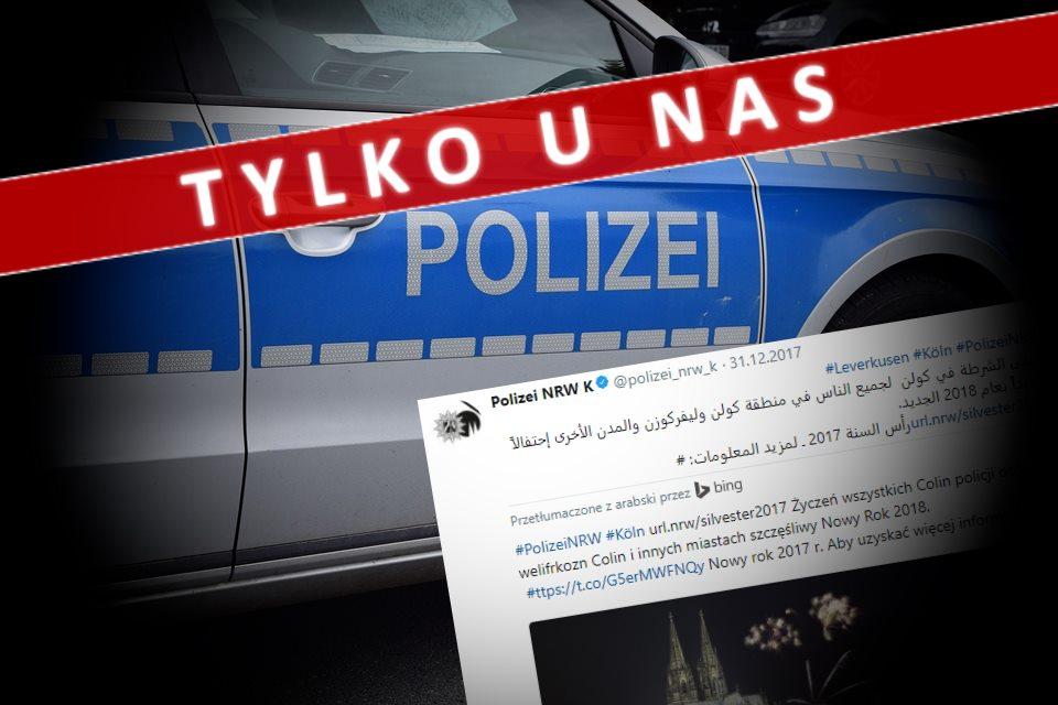 Niemiecka policja składa życzenia noworoczne… po arabsku