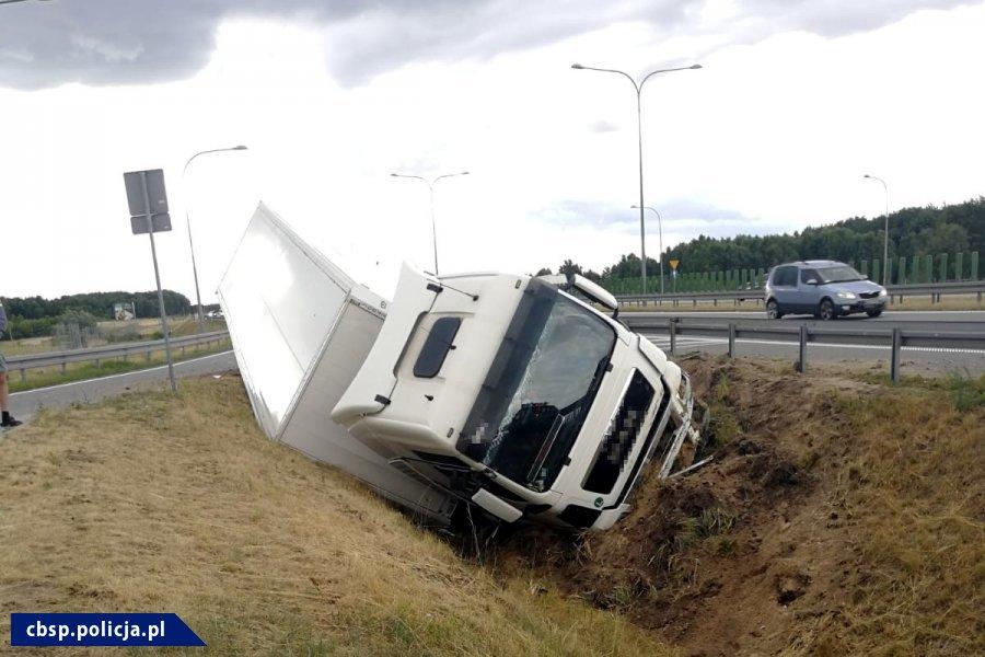 Pirotechnik CBŚP zatrzymał nietrzeźwego kierowcę ciężarówki