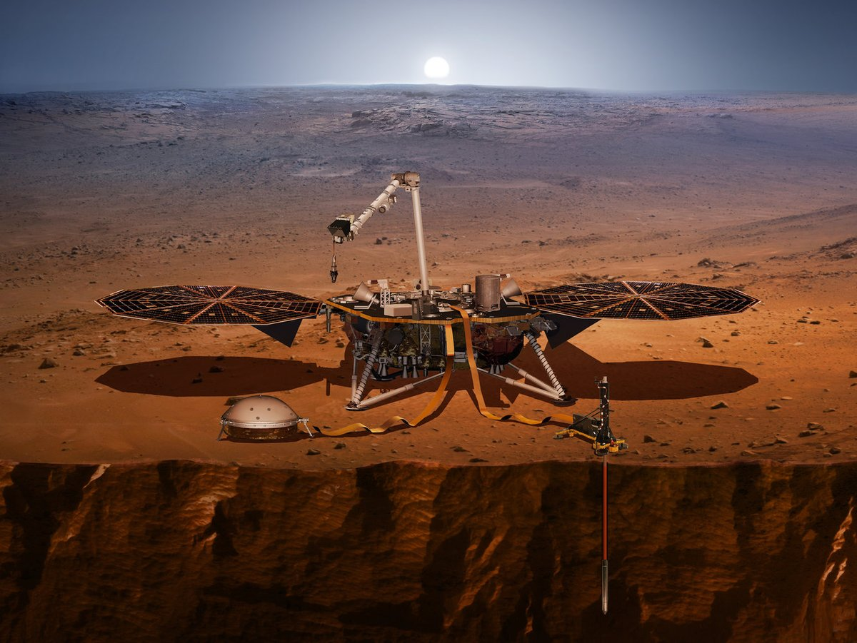 Z OSTATNIEJ CHWILI: Lądownik InSight NASA wylądował na Marsie! Historyczne wydarzenia!