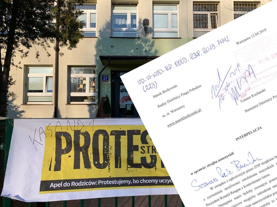 Radny chce zwolnienia strajkujących nauczycieli! Proponuje rewolucję systemu szkolnictwa