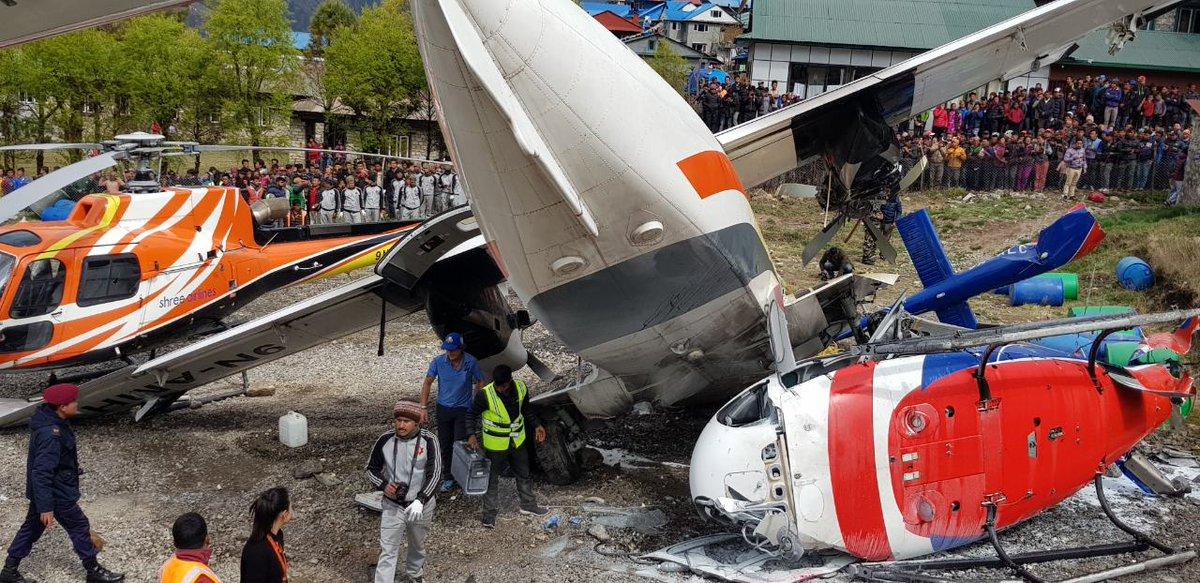 Katastrofa samolotu na lotnisku! Samolot wleciał w helikopter. Są zabici i ranni