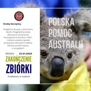 Zbiórka Polska Pomoc dla Australii pod naszym patronatem kończy się w środę!