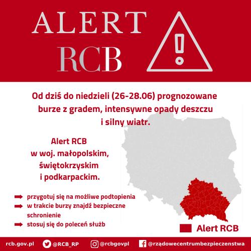 Alert RCB dla 3 województw! Może być bardzo niebezpiecznie