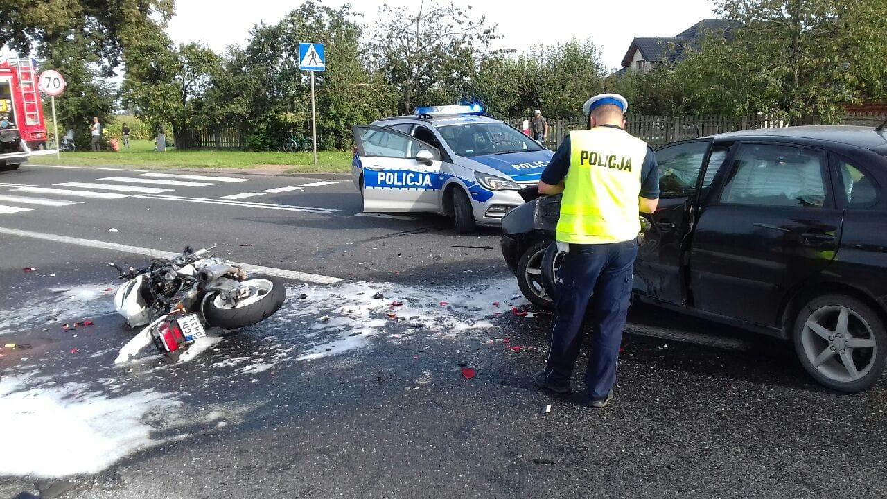 Tragiczny wypadek na drodze. 26-letni motocyklista zginął na miesjcu