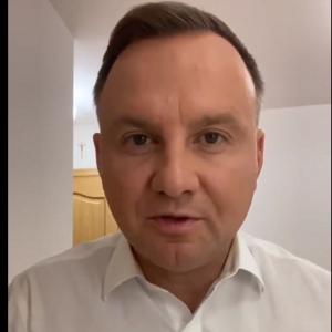 """Zakażony koronawirusem Andrzej Duda. """"Chciałbym wszystkich przeprosić"""" [WIDEO]"""
