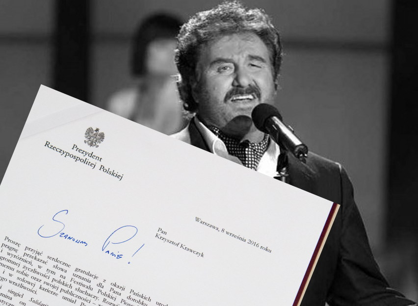 Andrzej Duda napisał list do Krzysztofa Krawczyka. Kancelaria pokazała treść